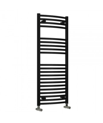 Diva Black Heated Towel Rail