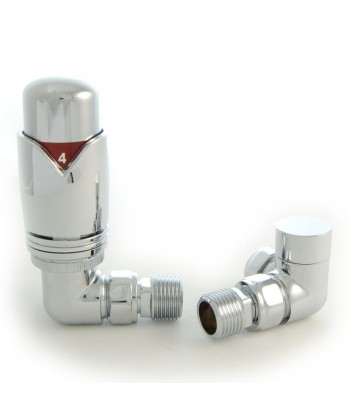 Classic Thermostatic Corner Radiator Valve