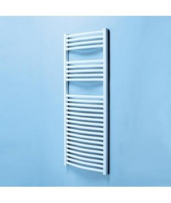 Diva White Heated Towel Rail  (688mm)