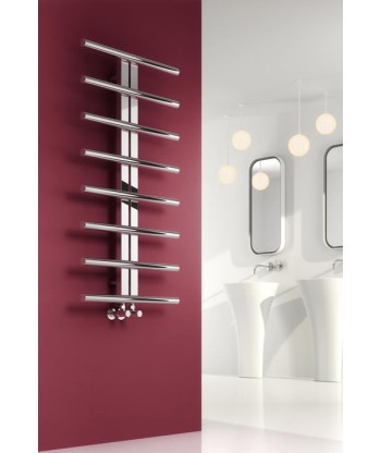Pizzo Stainless Steel Heated Towel Rail