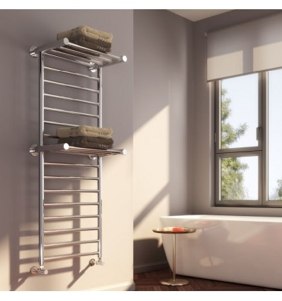 Adena Designer Double Shelf Towel Rail