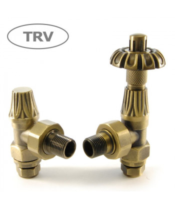 Abbey Thermostatic Radiator Valve (Old English Brass)