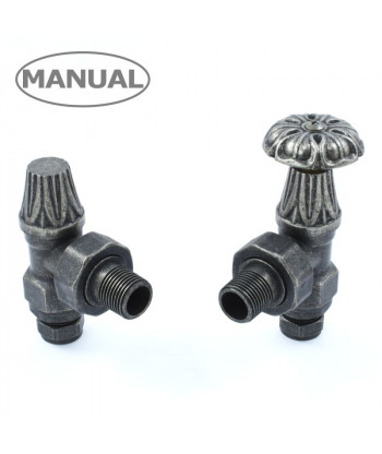 Abbey Manual Radiator Valve - (Pewter)