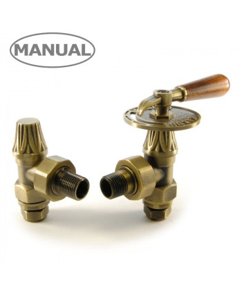 Abbey Lever Manual Radiator Valve - (Old English Brass )
