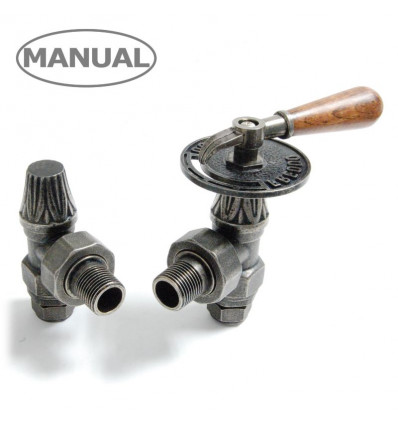 Abbey Lever Manual Radiator Valve - (Pewter)