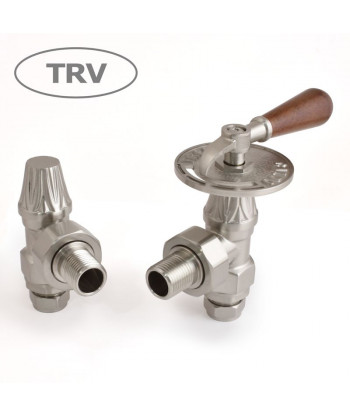 Abbey Lever Manual Radiator Valve - (Satin Nickel)