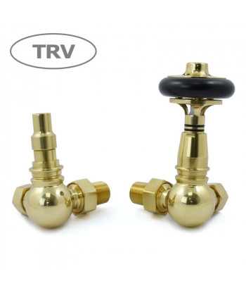 Amberly Corner Thermostatic Radiator Valve (Polished Brass)