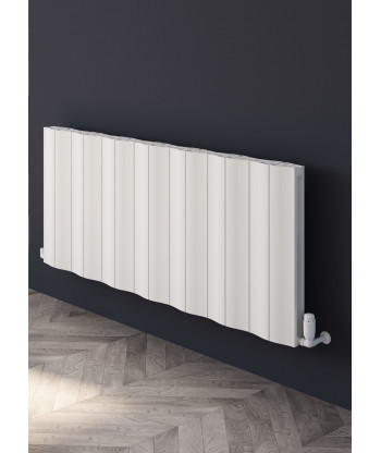 Wave Horizontal Double Aluminium Radiator