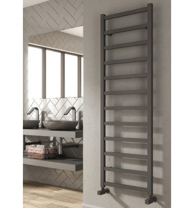 Fano White/Anthracite Aluminium Towel Rail