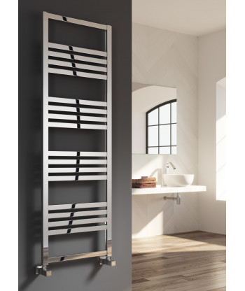 Bolca Polished/Satin Aluminium Towel Rail