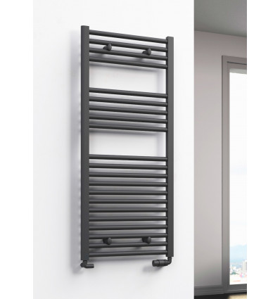 Diva Anthracite Heated Towel Rail