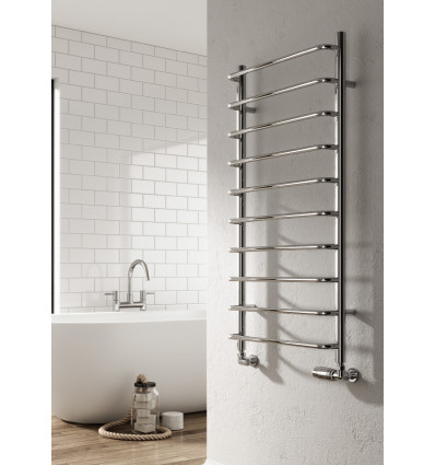 Aliano Chrome Heated Towel Rail