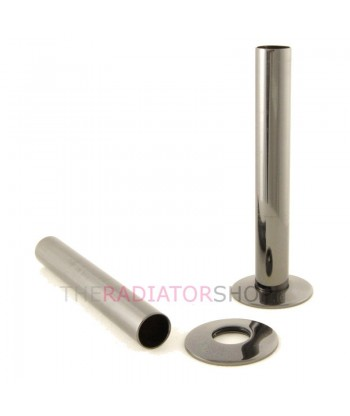 Black Nickel Radiator Pipe Cover Kit 130mm