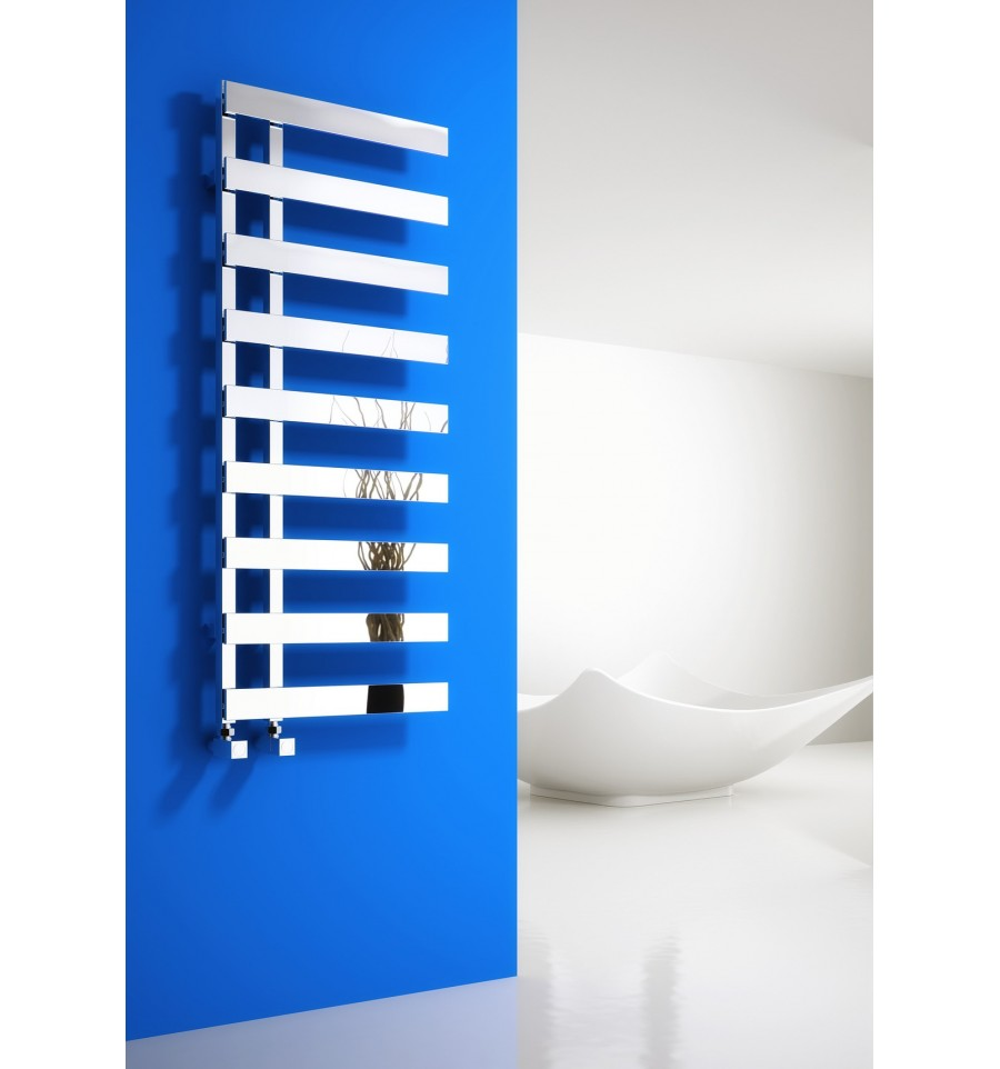 Alpine Modern Heated Towel Rail Warmer Chrome: Florina Reina Chrome Stylish Chrome Heated Bathroom Towel Rail